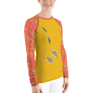 Veil of Vines Women's Rash Guard-Geckojoy