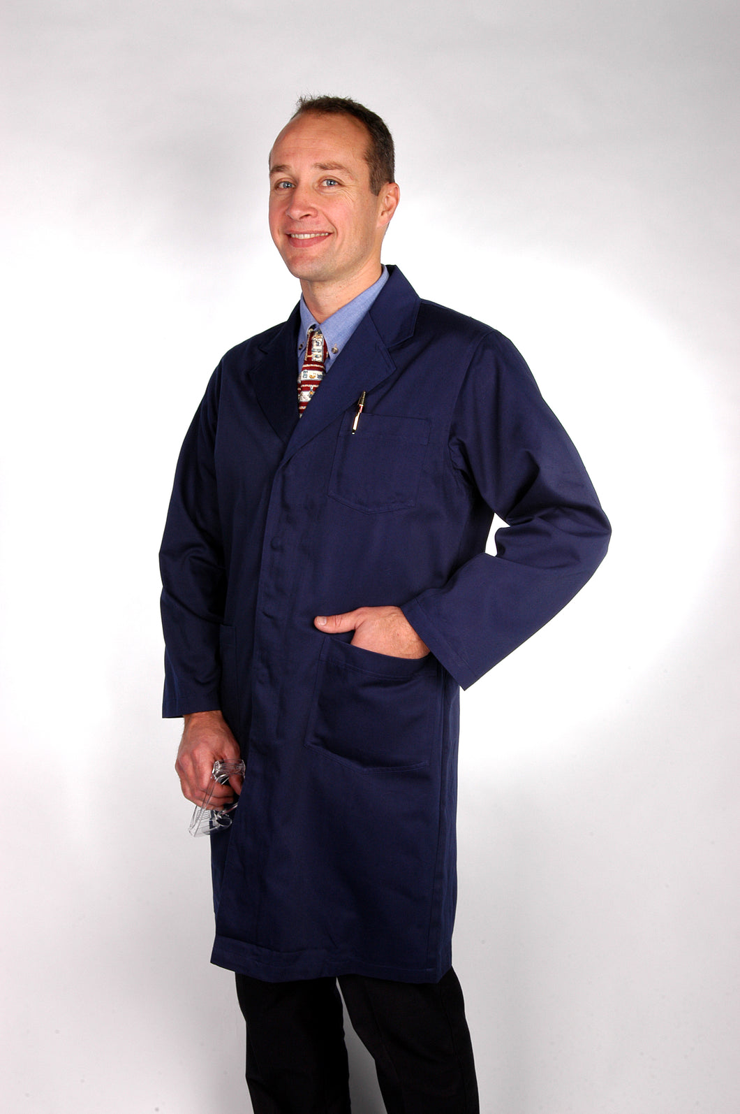 LAB COAT NAVY BLUE