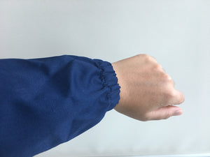 LAB COAT  NAVY BLUE ELASTIC WRIST CUFF