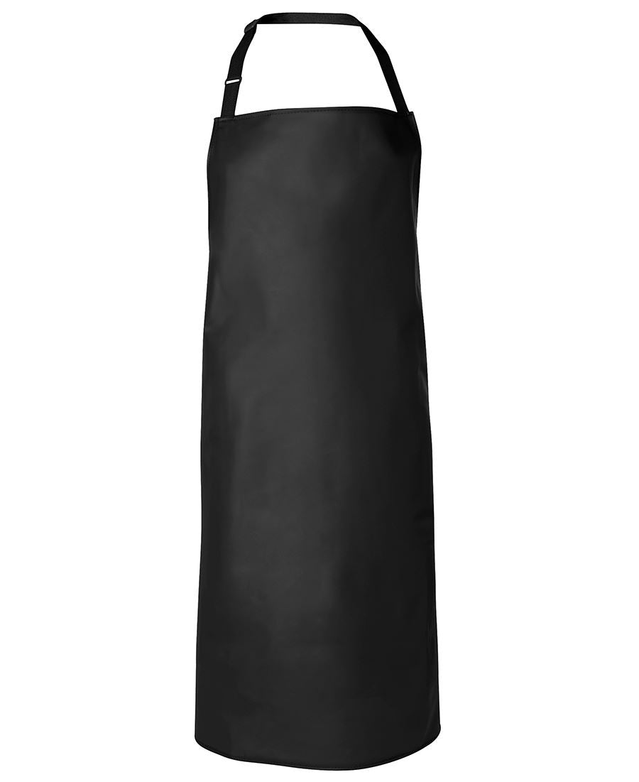 VINYL APRONS BIB STYLE WHITE AND BLACK