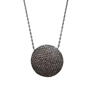 Large Crystal Sphere Necklace