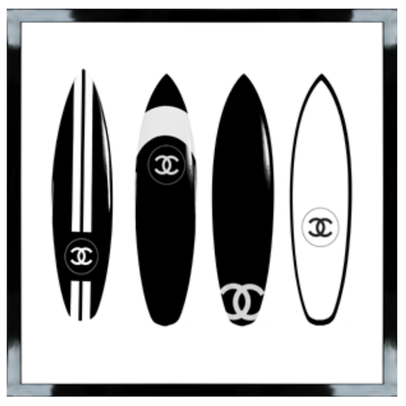 Chanel Surfboards Box Frame Art