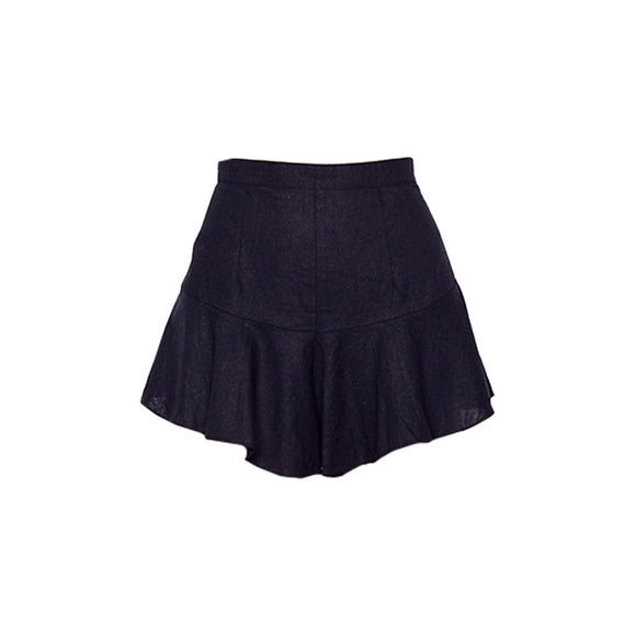 MLM LABEL Blooms Short Linen Black