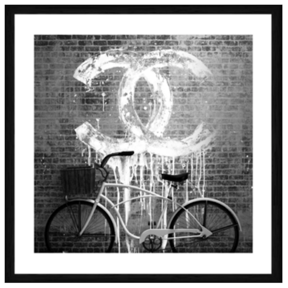 Chanel Bike Black Box Frame Art