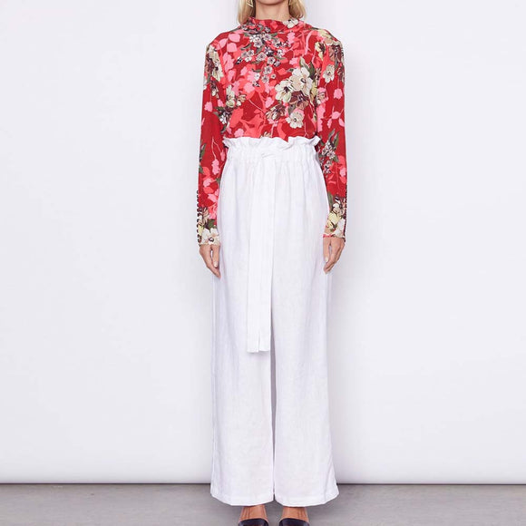 MLM LABEL Ella Linen Pants White