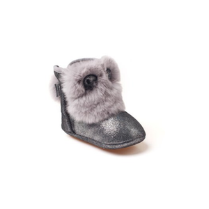 UGG Rabbit Baby Booties Glitter Grey