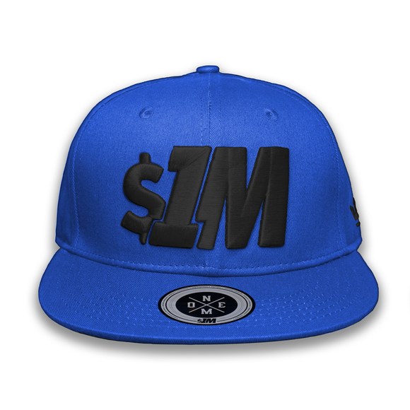 Gorra $1M Auténtica Blue/Black - 1M Clothing Co.
