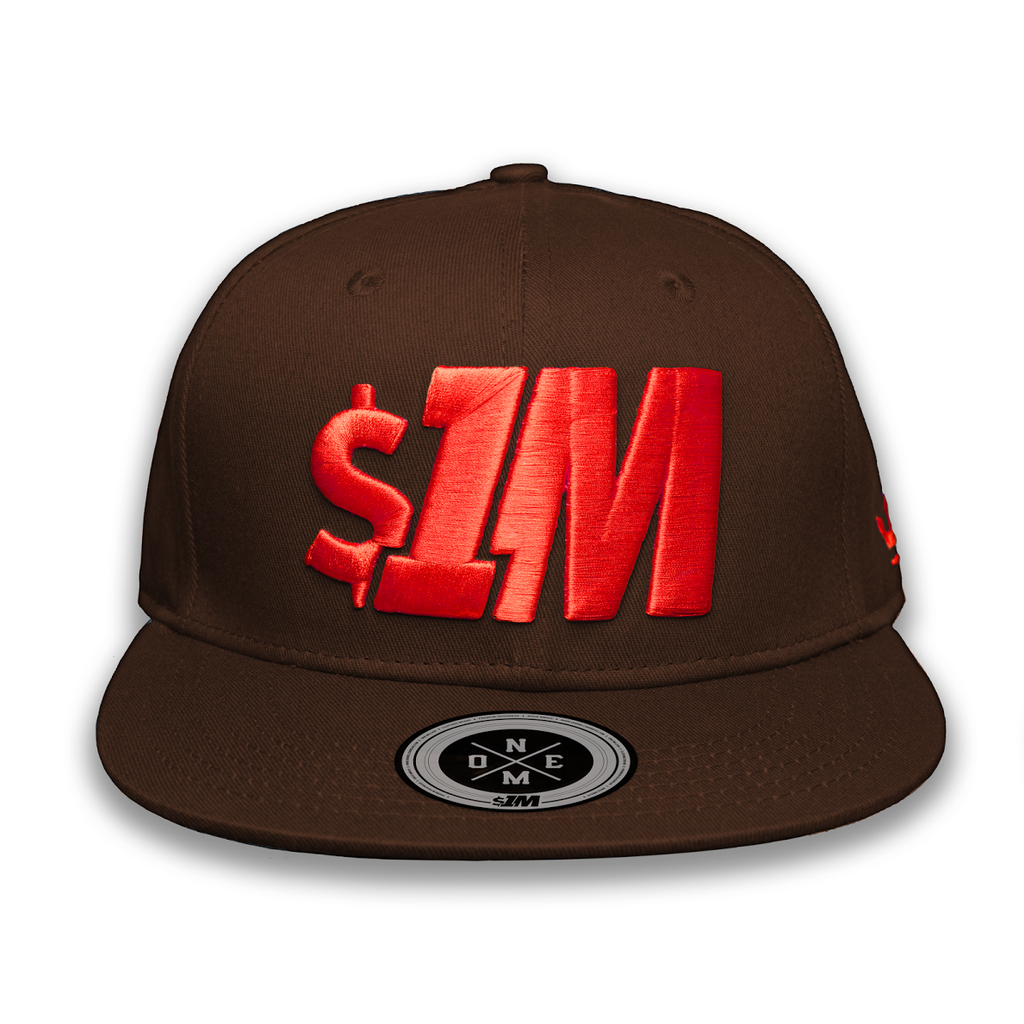 Gorra $1M Auténtica Brown/Red - 1M Clothing Co.