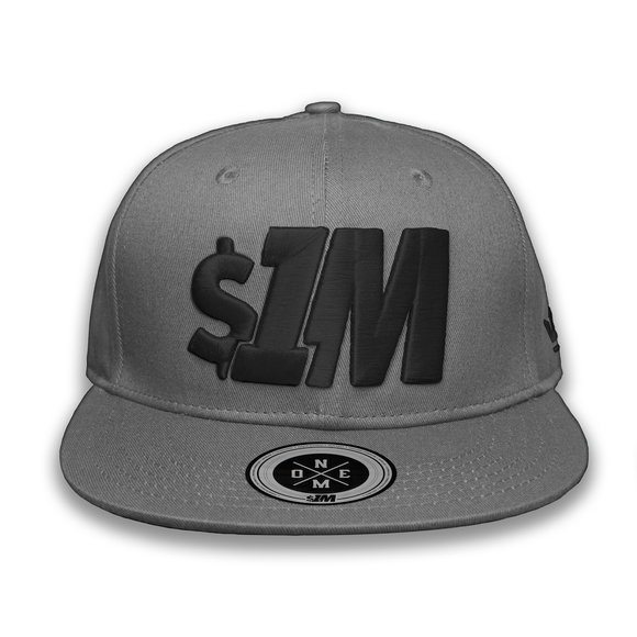 Gorra $1M Auténtica Gray/Black - 1M Clothing Co.