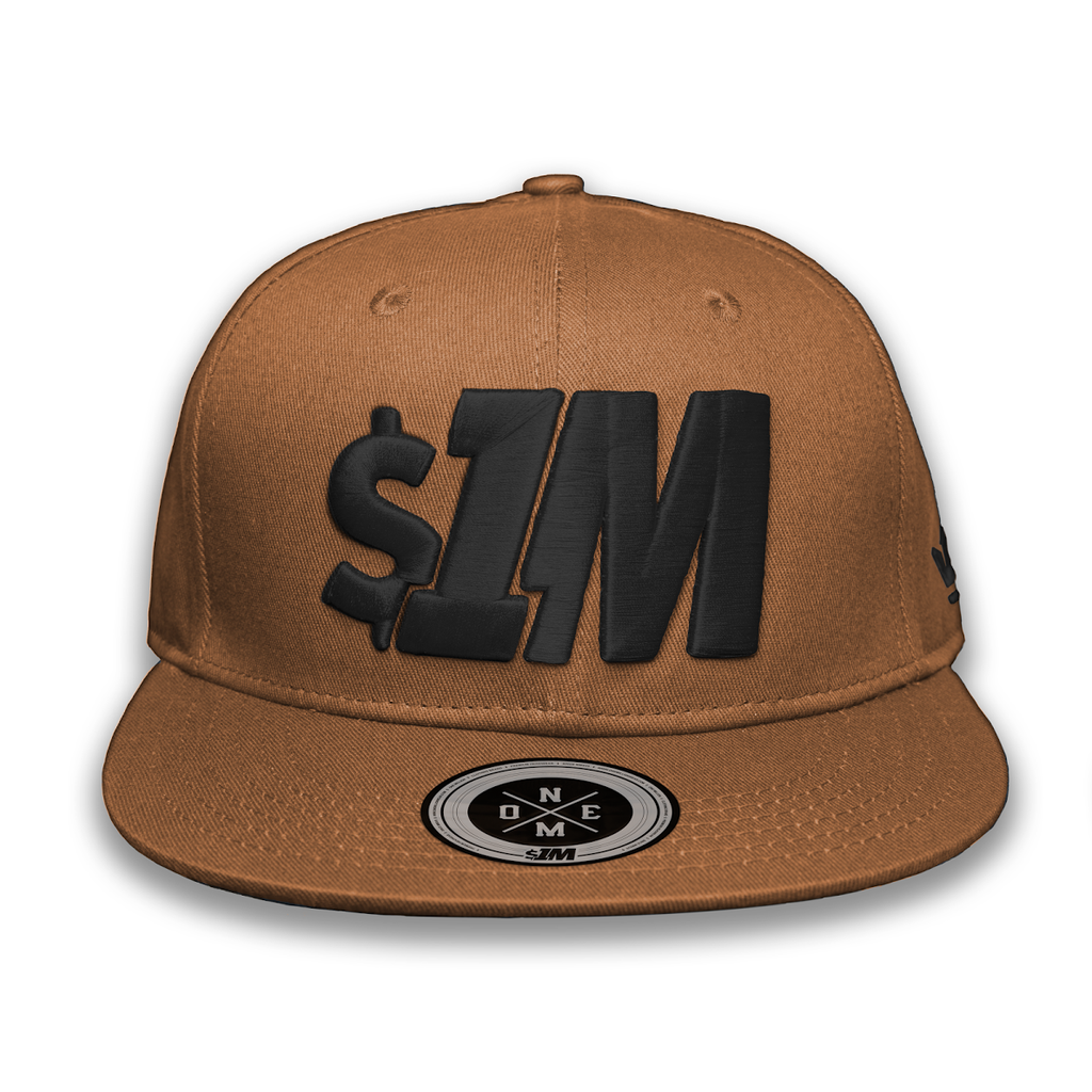 Gorra $1M Auténtica LightBrown/Black - 1M Clothing Co.