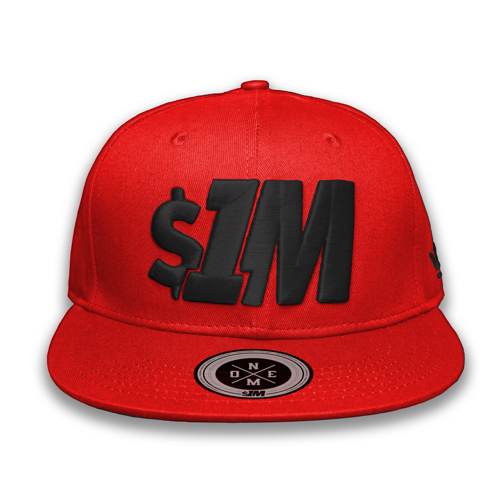 Gorra $1M Auténtica Red/Black - 1M Clothing Co.