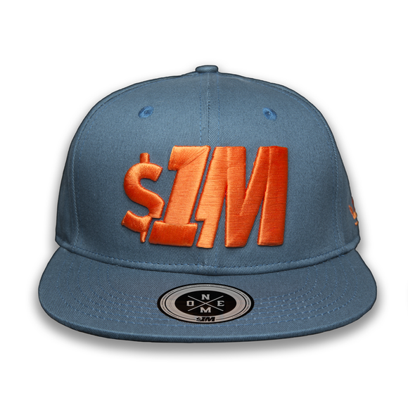 Gorra $1M Auténtica Turquoise/Orange - 1M Clothing Co.