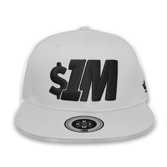 Gorra $1M Auténtica White/Black - 1M Clothing Co.
