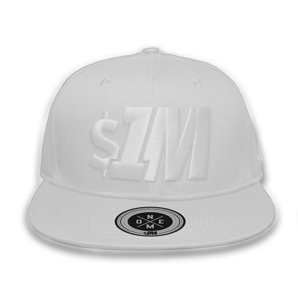 Gorra $1M Auténtica White/White - 1M Clothing Co.