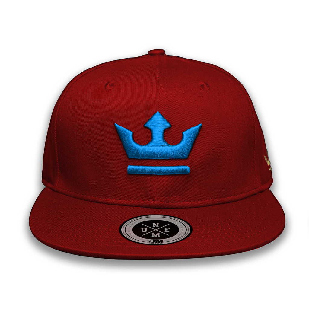 Gorra THE KING Burgundy/Turquoise - 1M Clothing Co.