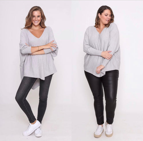 🎈 SALE ZOE KNIT JUMPER Grey Marl