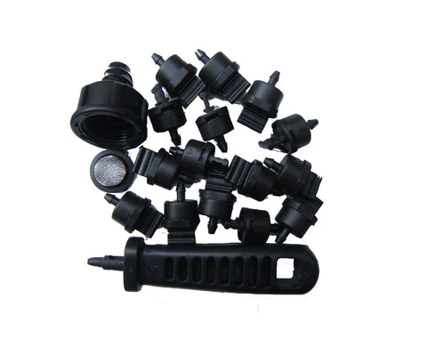 115 piece water dripper kit for irrigating your garden