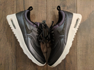 Black Leather Nike Air Max Thea