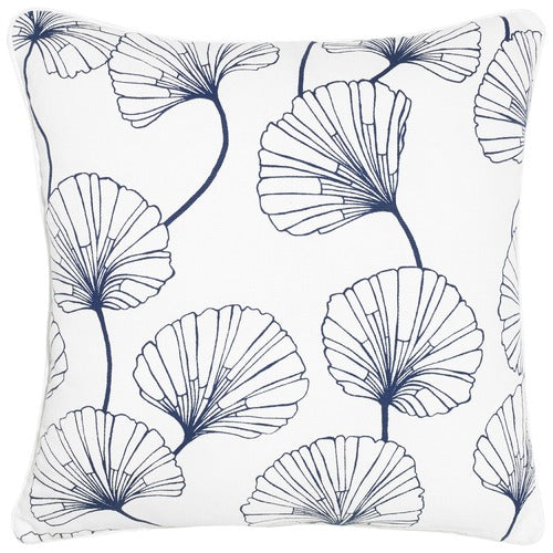 Eloise navy cotton cushion
