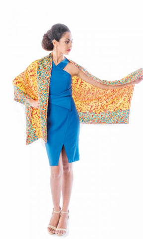 Tamarind Rectangle Silk Chiffon Scarf