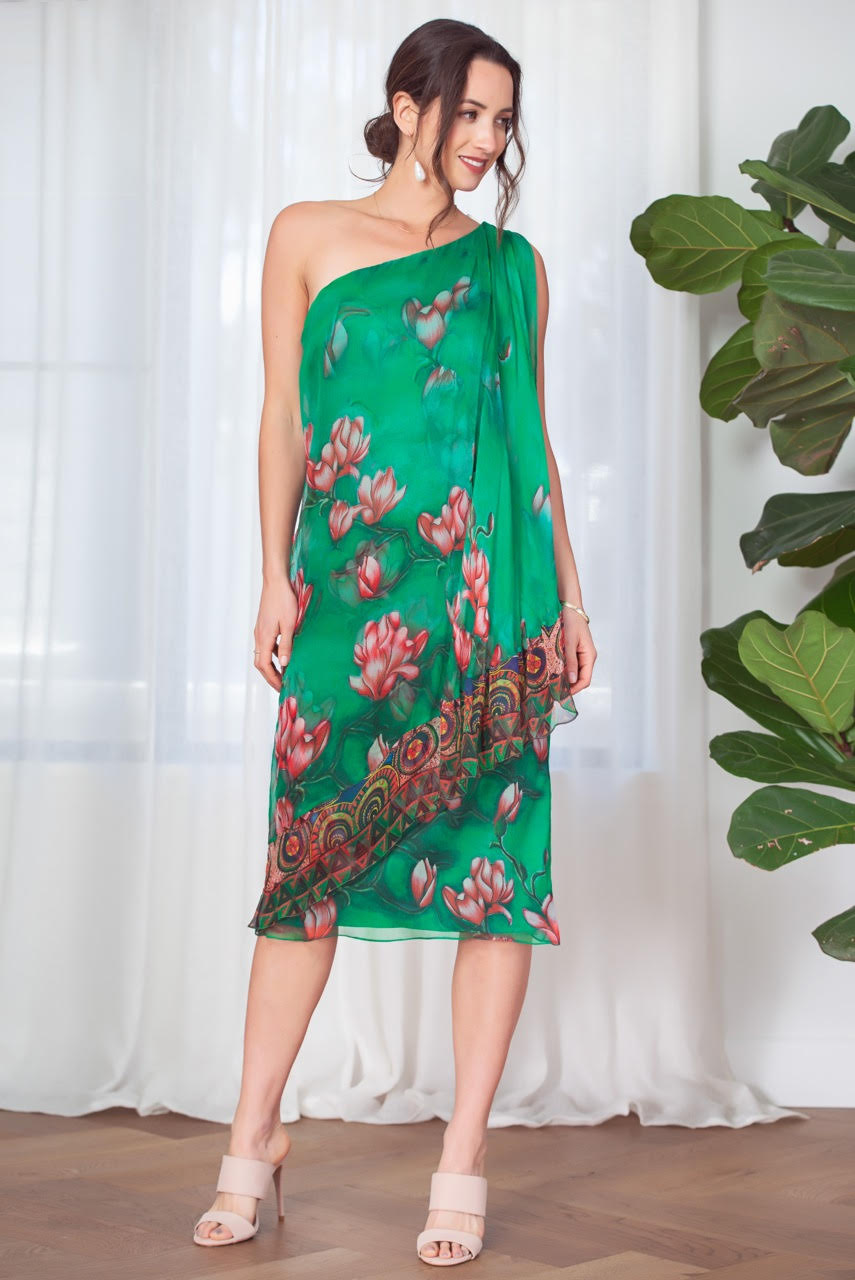 Kamare Dion Silk Dress - green