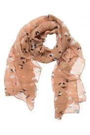 Yaya Nature Dot Rib Scarf - Light Camel