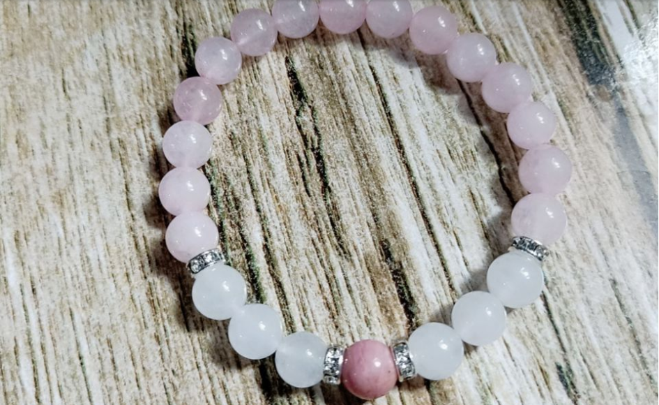 Stress Relief Pink Howlite Beads