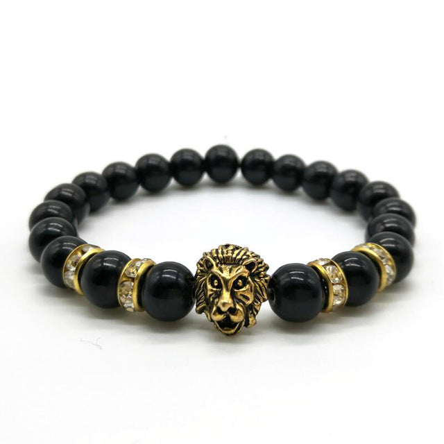 Antique Gold Lion Head Unisex Bracelet