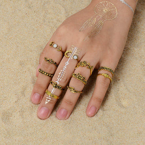 Gold Color Knuckle Rings