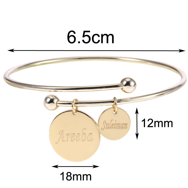 Custom bangle with personalized charms