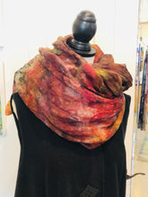'Autumn in Maine' Ice-dyed Linen Shawl