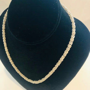 Sterling Silver Byzantine Necklace - Handworks Gallery