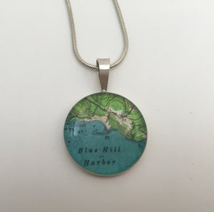 Blue Hill Harbor Pendant - Handworks Gallery