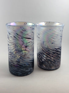 Set of 2 Milky Way Time Warp Glass Tumblers - Handworks Gallery