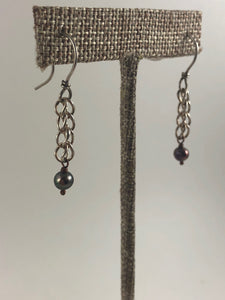 Hammered Chain Earrings - Handworks Gallery