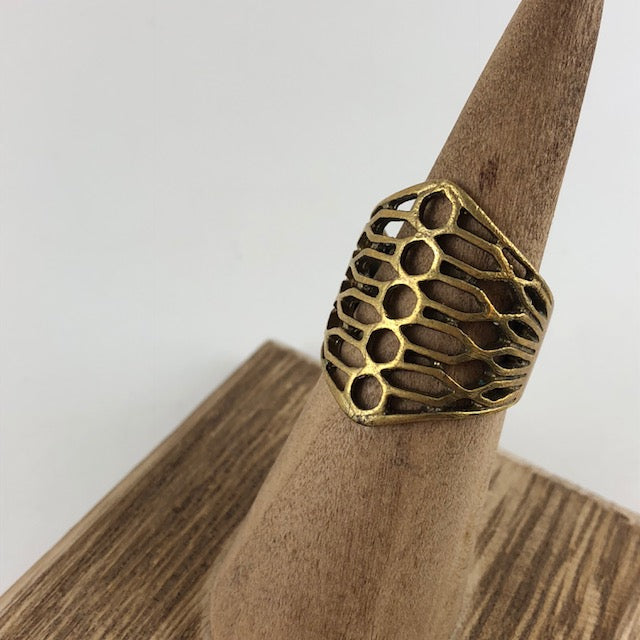 Bees Wing Ring - Handworks Gallery