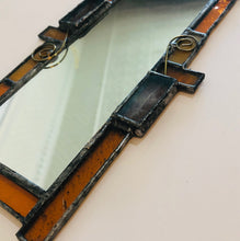 Funky Orange Stained Glass Mirror