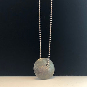 Lava Lentil Necklace - Handworks Gallery