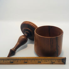 Small Wooden Box with Finial Top