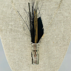 Small Silver Vase Necklace