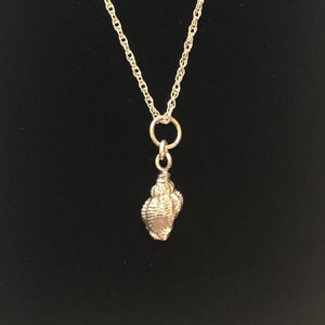 Sterling Silver Wrinkle Shell Necklace - Handworks Gallery