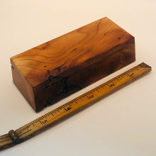 Hinged Black Cherry Burl Box