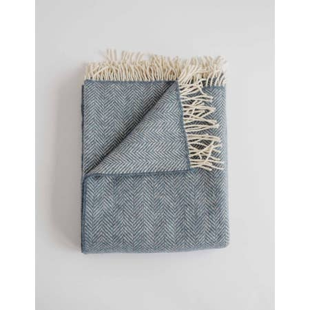 Merino Cashmere Herringbone Throws - Handworks Gallery