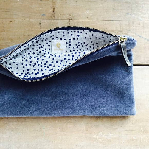 Velvet Clutch Zipper Bag