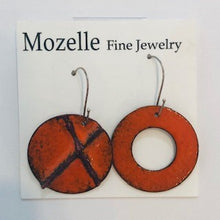 Enameled Hugs + Kisses Earrings - Handworks Gallery