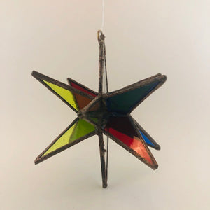 3D Stained Glass Moravian Star Ornament