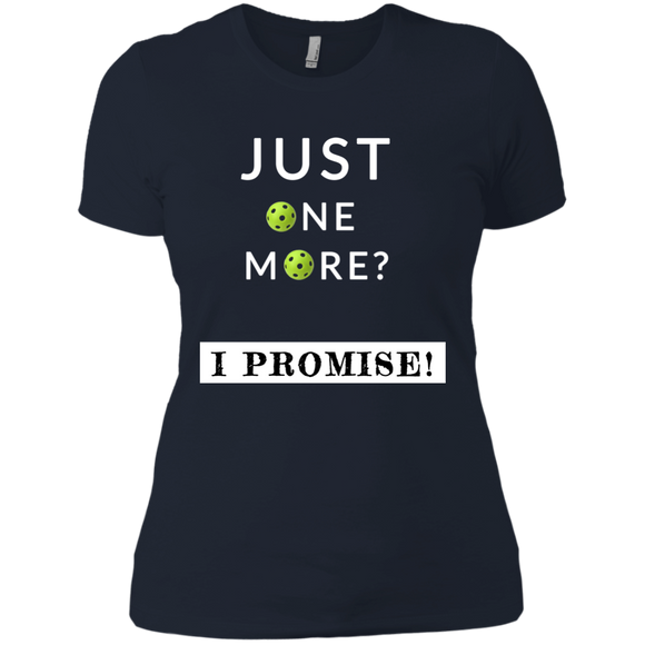 Just One More Game Pickleball NL3900 Next Level Ladies' Boyfriend T-Shirt