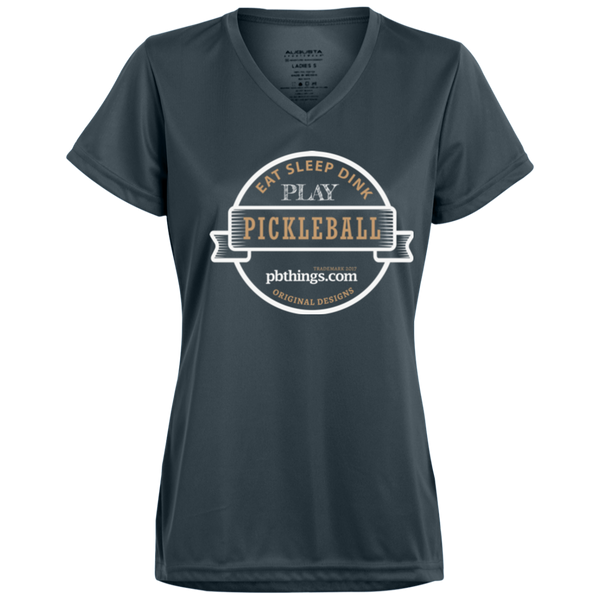 Eat Sleep Dink Pickleball Eat Sleep Dink 1790 Augusta Ladies' Wicking T-Shirt