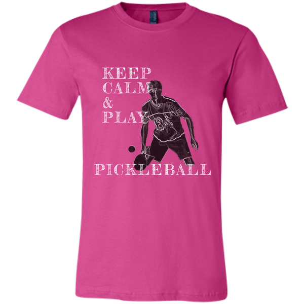 Keep Calm Play Pickleball 3001C Bella + Canvas Unisex Jersey Short-Sleeve T-Shirt