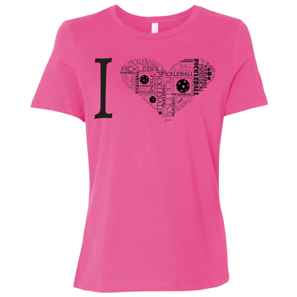I Heart PB B6400 Bella + Canvas Ladies' Relaxed Jersey Short-Sleeve T-Shirt